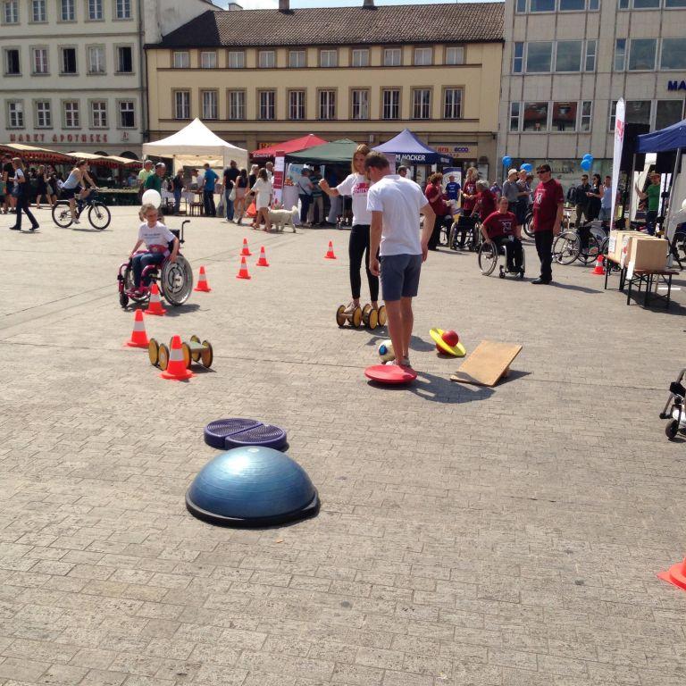 Parcours auf dem Marktplatz in Würzburg 2019