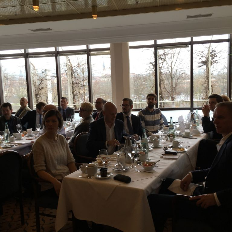 Teilnehmer des Unternehmerfrühstücks